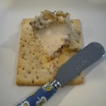 Walnut blue cheese spread.