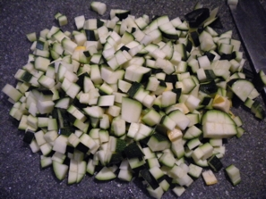 diced zucchini photo