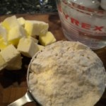 Pretty homemade herb crackers.