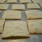 Better than store-bought: Homemade sea-salt crackers.