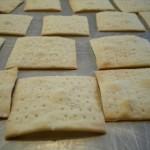 Better than store-bought: Homemade sea-salt crackers.