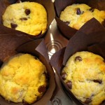Orange chocolate chip muffins.