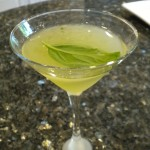 Basil lemon cocktail.