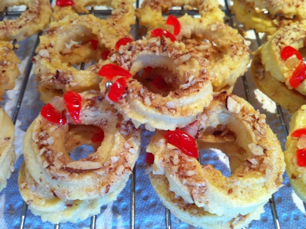 recipe for almond wreath butter cookies | writes4food.com