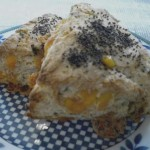 Cheddar-chive scones.