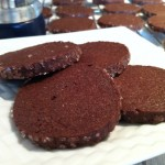 Peppery chocolate refrigerator cookies.