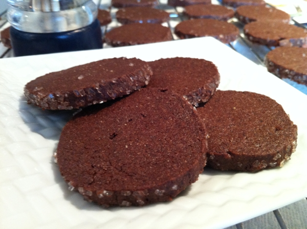 Peppery Chocolate Refrigerator Cookies | writes4food.com