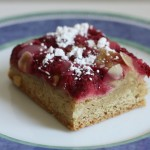 Raspberry-almond bars.