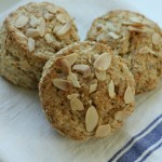 Almond-oat-buttermilk scones.
