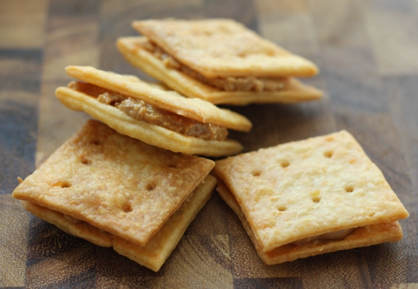 photo of homemade cheese peanut butter cracker recipe