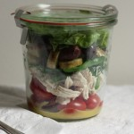 Beautiful French salad in a jar.
