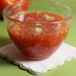 Mom's quick gazpacho.