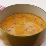 Creamy vegetable chowder.