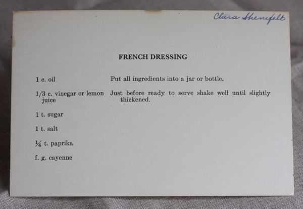 vintage recipe for french salad dressing