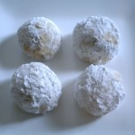 Christmas Cookie-Palooza: Pecan snowball cookies.