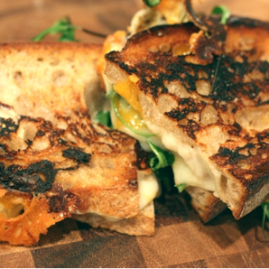 Grilled Arugula and 3 Cheese #writes4food
