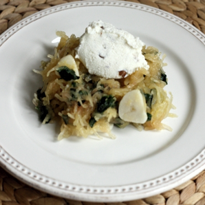 Spaghetti Squash with Chard