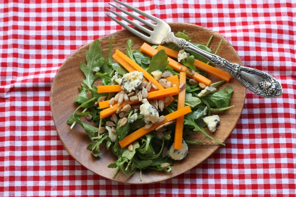 arugula butternut salad #writes4food