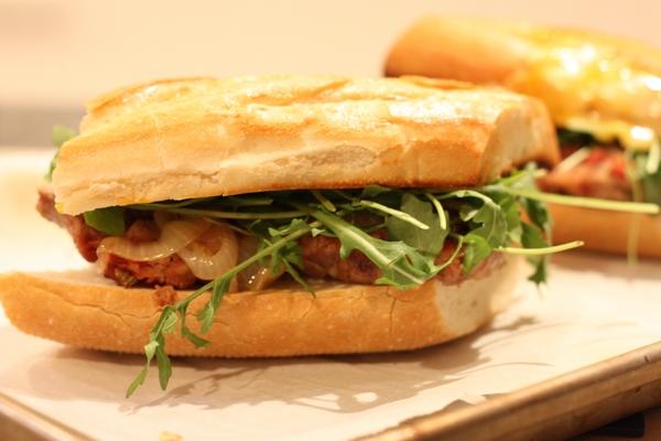 crazy-good meatloaf sandwiches with arugula recipe | writes4food.com