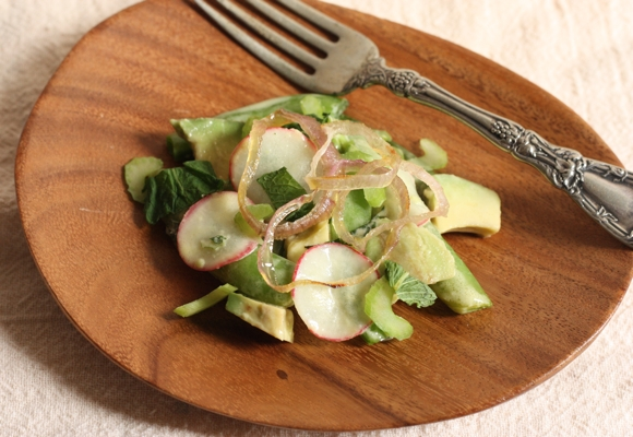 roasted sugar snap and shallot salad #writes4food