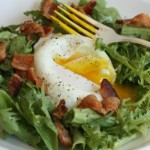 Beautiful salade lyonnaise.