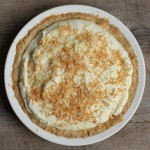 Grandmother's toasted coconut cream pie.
