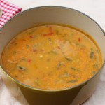 Creamy low-fat vegetable chowder.