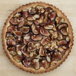 Beautiful fresh fig tart.