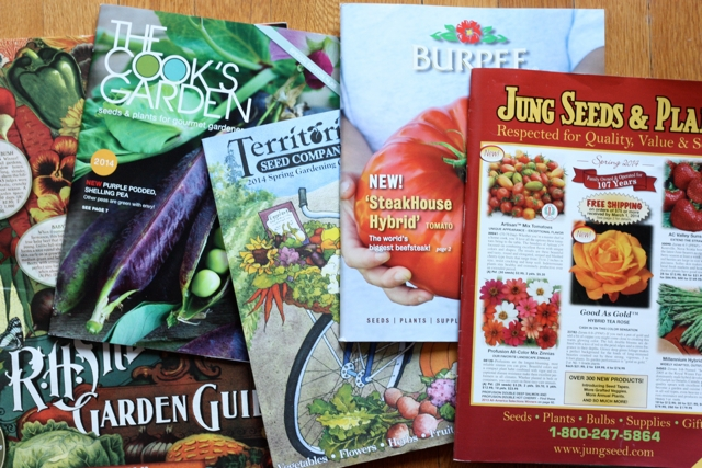 Collection of garden catalogs