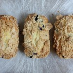 Mini blueberry streusel loaves.