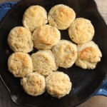black pepper skillet biscuits | writes4food.com