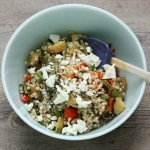 Barley salad with roasted fall vegetables.