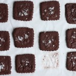 Christmas Cookie Palooza: Snowy chocolate sea salt shortbread.