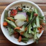 How to make homemade vegetable stock.