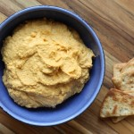 Spicy roasted carrot hummus.