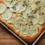 Potato and thyme focaccia.