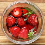 Quick pickled strawberries.