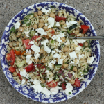 Summery herbed orzo salad.