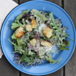 Baby kale caesar salad.