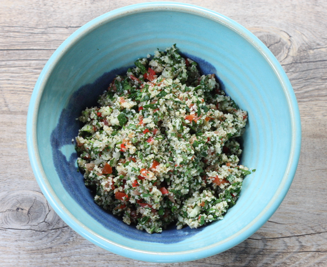 homemade tabbouleh salad recipe | writes4food.com