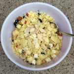 Couscous salad with apples and feta.