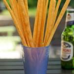 Homemade cheese straws.