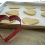 Valentine's Day cut-out cookies.