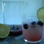 Refreshing blueberry limeade.