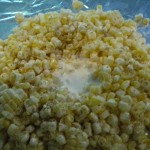 Grilled corn with Parmesan breadcrumbs.