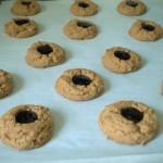 Peanut butter and jam thumbprint cookies.