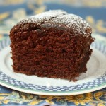Simple chocolate-red wine cake.
