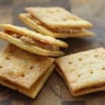 Better than store-bought: Homemade cheese-peanut butter crackers.