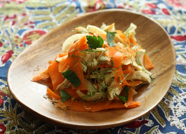 chicken salad with carrot and fennel | writes4food.com