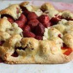 Easy strawberry galette.